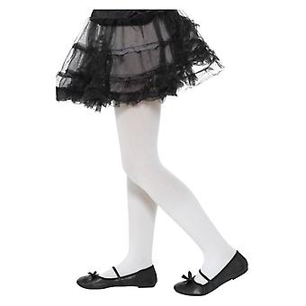 Κορίτσια λευκό αδιαφανές καλσόν φανταχτερό φόρεμα αξεσουάρ