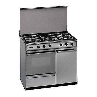 Butane Gas Cooker Meireles 90 cm 114 L Bianco Inox (5 Stinse)