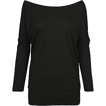 Build Your Brand Womens/Ladies Batwing Long Sleeve Top