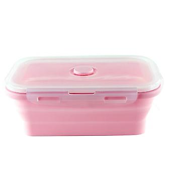 Bento Box Lunch Box Rectangular Silicone Folding Food Container Leak Proof