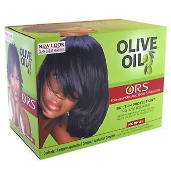 Ors olive oil built-in protection, no-lye relaxer, normal, 1 kit