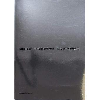 Nineteen Interventions - Arquitectura-G - 9788409087747 Book