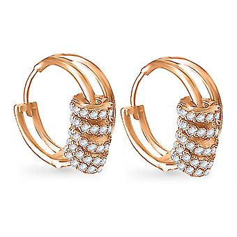 Earrings Glitzy Move 18K Gold and Diamonds - Rose Gold