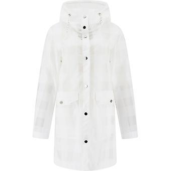 Woolrich Wwou0212frut20738649 Women's White Polyurethane Outerwear Jacket