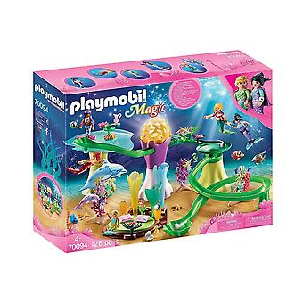 playmobil 70094 magic mermaid cove with lit dome playset 126pcs for ages 4 and