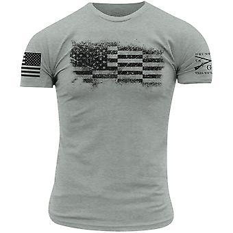 T-shirt Grunt Style Bar Flag - Soie