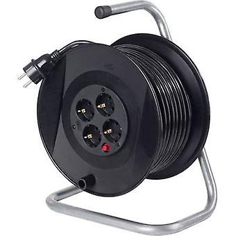 as - Schwabe 11104 Kablo makara 25.00 m Siyah PG fiş