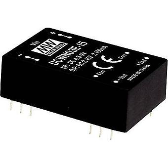 Mean Well DCWN03B-15 DC/DC converter (module) 100 mA 3 W Nr. uitgangen: 2 x