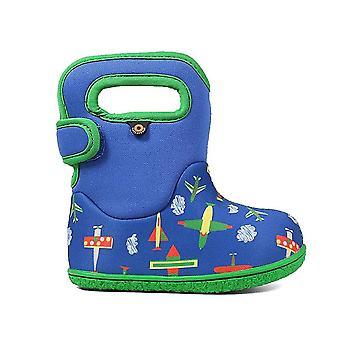 Bogs Baby Bogs Planes Baby Waterproof Boot Blue Multi