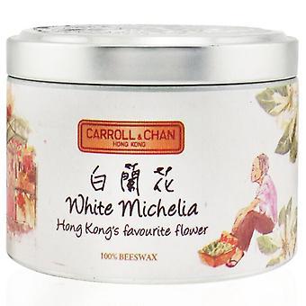 Carroll & Chan 100% Bijenwas tinnen kaars - Witte Michelia (8x6) cm