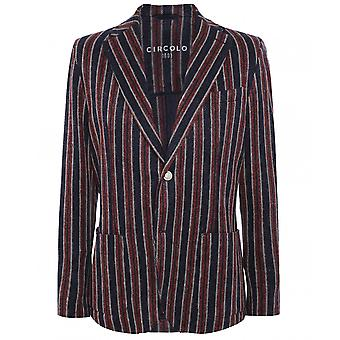 Circolo 1901 Stretch Cotton Striped Print Jacket