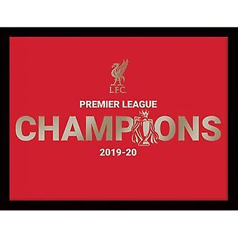 Liverpool Premier League Champions Metallic Picture 16 x 12