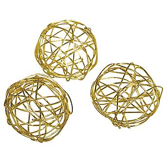 2cm guld wire bolde til blomsterhåndværk