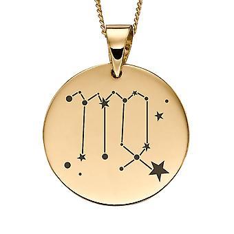 Joshua James Precious 9ct Yellow Gold Virgo Zodiac Pendant
