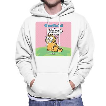 Garfield aldri Trust en smiling Cat sitat menn ' s Hettejakke