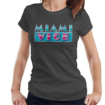 Miami Vice reflecterende logo vrouwen ' s T-shirt