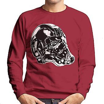 Opprinnelige Stormtrooper Imperial TIE Pilot hjelm siden skutt menn Sweatshirt