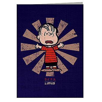 Linus Van Pelt Retro japansk peanuts lykønskningskort