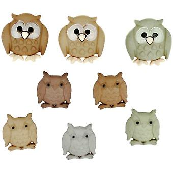 Whoo (Owls) - Novelty Craft Buttons & Embellishments by Dress It up
