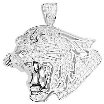 Premium Bling - 925 Sterling Silver Lion pendant