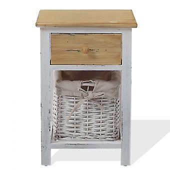 Rebecca Furniture Mobile Comfort 1 Drawer 1 Rustic Basket 46x31x27
