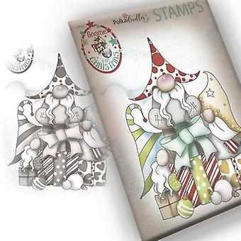 Polkadoodles Clear Stamps - Gnome Gift Of Christmas