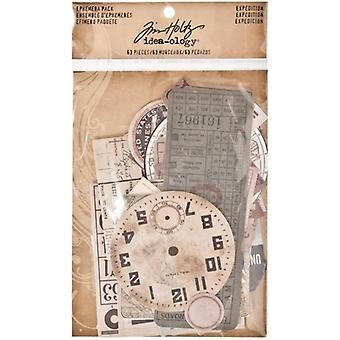 Advantus Tim Holtz Ephemera Pack Ekspedition (63pcs) (TH93115)