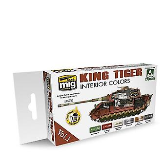 Ammo by Mig King Tiger Interior Colour (Special Takom Edition) Vol 1