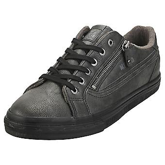 Mustang Lace Up Side Zip Mens Fashion Trainers em Grafite