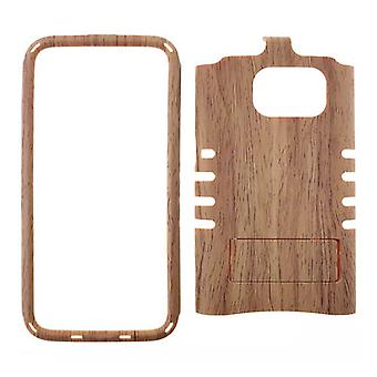 Rocker Series Snap-On Protector Case pour Galaxy S7 (Light Wood Pattern)