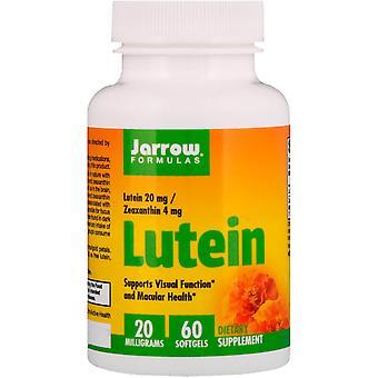 Fórmulas De Jarrow, Luteína, 20 mg, 60 Softgels