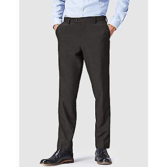 FIND Men's Regular Fit Formal Trouser, Grey (Charcoal) W30/L31