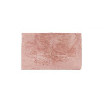 Luxe Faux Rabbit Fur Rectangular Rug 3' X 5'  - Blush Pink