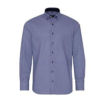Eterna Casual Eterna Modern Fit Long Sleeved Shirt Navy/white Check