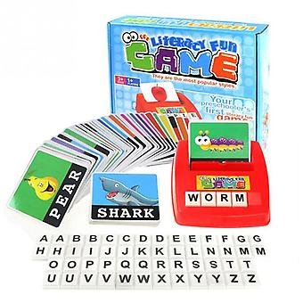 Children Alphabet  Game Card English Alphabet Letters Learning- Vocabulary Word Picture Match Educational Toys
