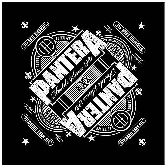 Pantera Bandana stronger than all hostile 1981 Official New Black (21in x 21in)