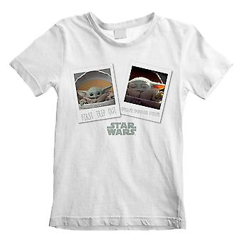 Star Wars The Mandalorian First Day Out Kids T-Shirt Unisex Large Taille 7 à 8