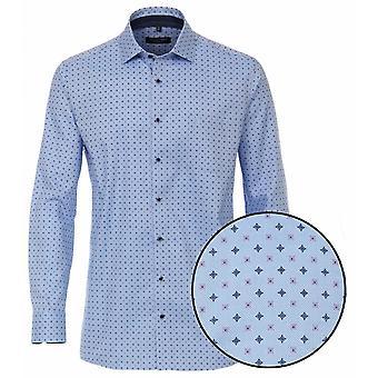 CASA MODA Casa Moda Woven Pattern Formal Cotton Shirt