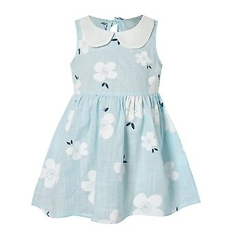 Girls Summer Dress, Cute Flower Print Sleeveless Soft Fashion Princess Clothes