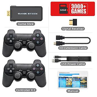 Datafrog Hdmi Video Game Console For Ps1 With 3000/10000 Games 2.4g Wireless Double Controller Gamepad