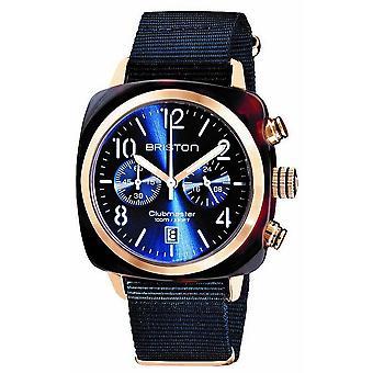 Briston Clubmaster Klassisk Acetate Kronograf klocka - Midnatt Blå / Rose Guld