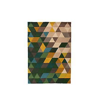 Illusion Prism Rug - Rectangular - Green/multicolour