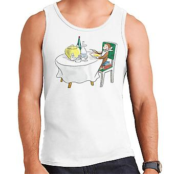 Curious George Eating A Fancy Meal Men's Vest