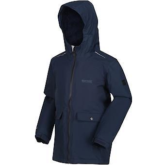 Regatta Kids Sarkis Outdoors Warm Waterproof Insulated Hooded Jacket Coat - Navy