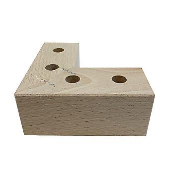 Käsittelemätön puinen kulmajalka 4,5 cm (1 kpl)