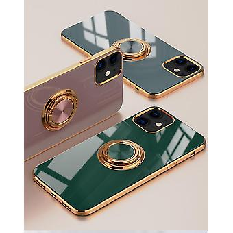 iPhone 12 and iPhone 12 Pro Shell Luxuriously Stylish with Ring Stand Feature Gold