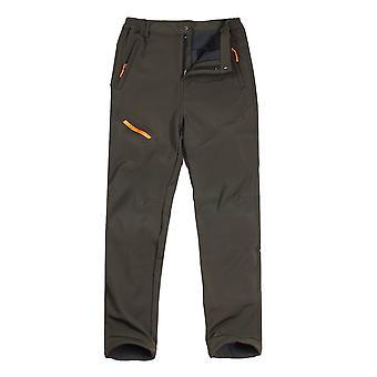 Pánské kalhoty s přes sametové silné podzimní a zimní kalhoty s měkkým pláštěm, -40 stupňů