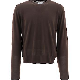 Bottega Veneta 648384v09w02081 Men's Brown Wool Sweater