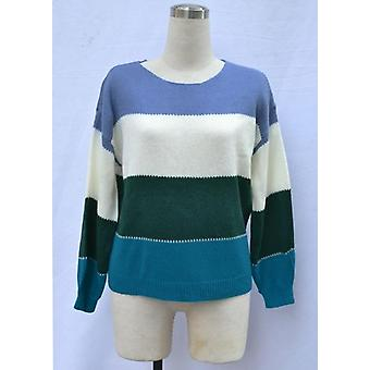Patchwork Color Knitted Sweater