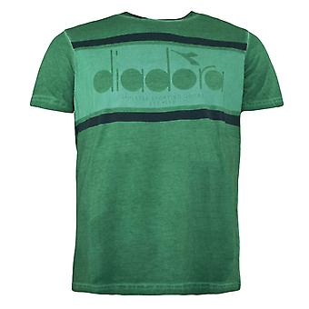 Diadora Verdant Green Short Sleeved Crew Neck Mens T-Shirt 70264